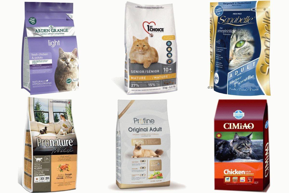 виды кормов для кошек премиум класса